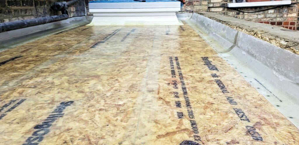 Preparation for fibreglass roof