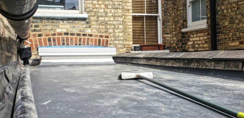 GRP fibreglass flat roof