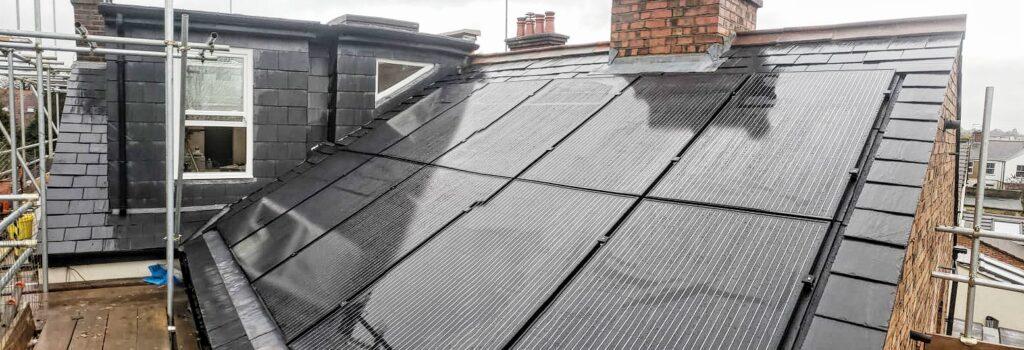 Solar panels, loft conversion